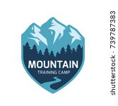 mountain label. vector icon. | Shutterstock .eps vector #739787383
