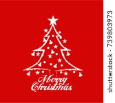 merry christmas vector text... | Shutterstock .eps vector #739803973