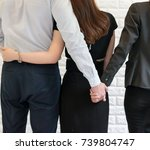 Small photo of Man have secret lover with another woman, Adulterous