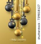 traditional christmas...   Shutterstock .eps vector #739818127