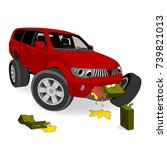 absolutely no the fuel economy. ... | Shutterstock .eps vector #739821013