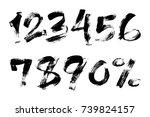 vector illustration of brush... | Shutterstock .eps vector #739824157