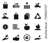 16 vector icon set   shopping... | Shutterstock .eps vector #739824757