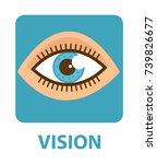 sense of vision  flat style... | Shutterstock .eps vector #739826677