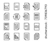 simple collection of document... | Shutterstock .eps vector #739836793