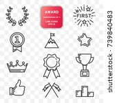 award icon  set of line design...