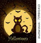 happy halloween poster | Shutterstock .eps vector #739841413