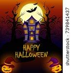 happy halloween poster | Shutterstock .eps vector #739841437