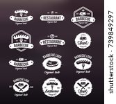 set steak labels  badges and... | Shutterstock .eps vector #739849297