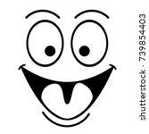 happy smile face | Shutterstock .eps vector #739854403