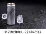 portion of fresh energy drinks  ... | Shutterstock . vector #739867453