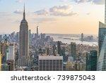 new york  usa. 8 24 17  new... | Shutterstock . vector #739875043