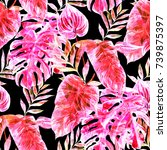 watercolor seamless pattern... | Shutterstock . vector #739875397