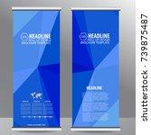 roll up business brochure flyer ...   Shutterstock .eps vector #739875487