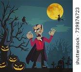 halloween backgrounds with...   Shutterstock .eps vector #739876723