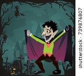 halloween backgrounds set with... | Shutterstock .eps vector #739876807