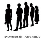 back view  silhouette people... | Shutterstock .eps vector #739878877