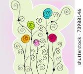 vector beautiful spring flowers ... | Shutterstock .eps vector #73988146