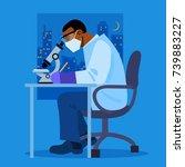 african american scientist in... | Shutterstock .eps vector #739883227