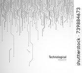 hi tech circuit board.... | Shutterstock .eps vector #739884673