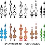 clock hands  arms  design... | Shutterstock .eps vector #739890307