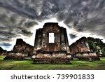 hdr photo of wat phra sri... | Shutterstock . vector #739901833