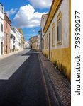 empty street in the typical... | Shutterstock . vector #739920277