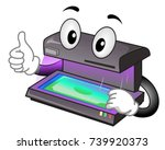 illustration of a currency... | Shutterstock .eps vector #739920373