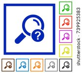 unknown search flat color icons ... | Shutterstock .eps vector #739925383