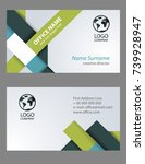 business card in triangulation... | Shutterstock .eps vector #739928947