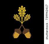 acorn flat vector icon or logo. ...   Shutterstock .eps vector #739942417
