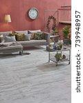dark red color raw wallpaper... | Shutterstock . vector #739948957
