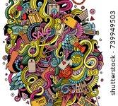 cartoon cute doodles hand drawn ...   Shutterstock .eps vector #739949503