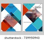 vector brochure cover templates ...   Shutterstock .eps vector #739950943