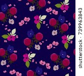 seamless pattern with cute... | Shutterstock .eps vector #739963843