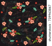 seamless pattern with cute... | Shutterstock .eps vector #739963867