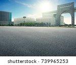 empty floor with backdrop on... | Shutterstock . vector #739965253