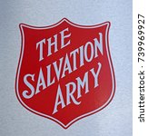 Small photo of Sydney, Australia - October 17, 2017: The Salvation Army Logo sign at one of help centers. The Salvation Army is an organization providing services to disadvantaged people in the community.