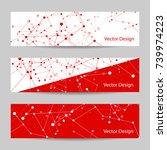 set of horizontal banners.... | Shutterstock .eps vector #739974223