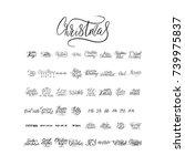 merry christmas brush lettering ... | Shutterstock .eps vector #739975837