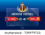 vector of american football ... | Shutterstock .eps vector #739979713
