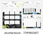 set of year 2018 calendar ... | Shutterstock .eps vector #739983307