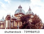antique building view in old... | Shutterstock . vector #739986913