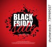 black friday sale banner | Shutterstock .eps vector #739989037