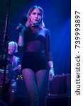 Small photo of Amsterdam, The Netherlands - 22 October 2017: Concert of American alternative rock band Pins, support act of the Breeders at Venue Melkweg in Amsterdam