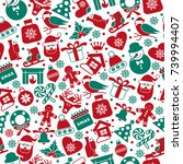 christmas seamless pattern of...   Shutterstock .eps vector #739994407