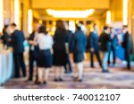 abstract blur group of people... | Shutterstock . vector #740012107