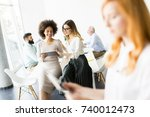 typical business day at a... | Shutterstock . vector #740012473