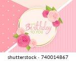 abstract happy birthday... | Shutterstock .eps vector #740014867