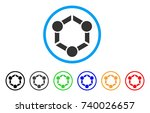 human union rounded icon. style ... | Shutterstock .eps vector #740026657